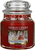 Yankee Candle Classico vasetto Christmas Magic, Rosso, 10.7 x 10.7 x 12.7 cm