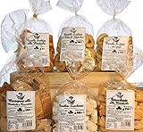 Dolce & Salato Geschenkbox. Backwaren ideal für Snacks und Desserts. Das Paket enthält Taralli mit Olivenöl, Fenchelsamen, Pizza,