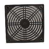 #9: Rrimin Black Dustproof 120mm Mesh Case Fan Dust Filter Cover Grill for PC Computer