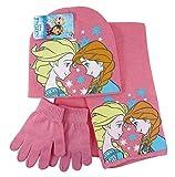 Set inverno 3 pezzi Guanti Sciarpa Cappello Disney FROZEN Anna ed Elsa Taglia 54 completo invernale