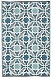 Fab Hab - Seville - Multifarben - Blau - Teppich/Matte für den Innen- und Außenbereich (180 cm x 270 cm)