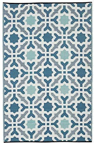 Fab Hab Sevilla Azul (90cm x 150cm), Yute, 90 x 150 cm