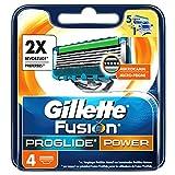 Gillette Fusion ProGlide Power lames de rasoir pour hommes, Lot de 4