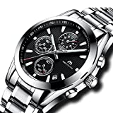 Best Designer Watches - Mens Chronograph Stainless Steel Watches Men Sports 30M Review