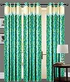 GREEN FLOWER Door curtains setof 3 pc