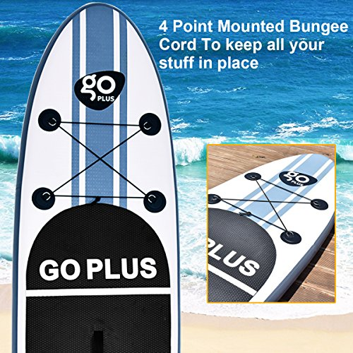 61wdyXshppL. SS500  - COSTWAY 10FT/11FT SUP Inflatable Stand Up Paddle Board W/Carry Bag, Repair Kit, Tail Vane, Adjustable Paddle, Hand Pump with Pressure Gauge, Ideal Beginners Soft Surfing Board Kit