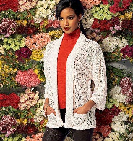McCall 's Patterns M6802RR 18W–20W–22W–24W Misses '– Damen Jacken, weiß, 1Stück (18w-24w-jacke)