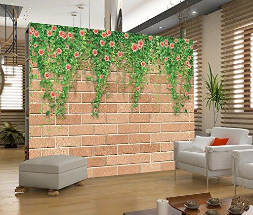 Poowef 3D Wallpaper 3D falsche Wand von Rosen rattan großen Wandgemälden Wallpaper Wallpaper tv Schlafsofa Zimmer wand Tapeten