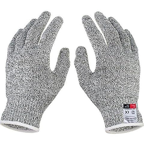 cebbay One Paar Schnitt Handschuhe–Hohe Performance Level 5Schutz, Lebensmittelqualität Küche Handschuh, weiß