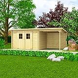 FZYHFA Massivholz Holzhaus Holzhaus Gartenhaus Holzhaus Gartenhaus 28 mm 5,3x3 m