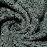 Stoff Baumwolle Plüsch Teddy grau Webpelz weich flauschig