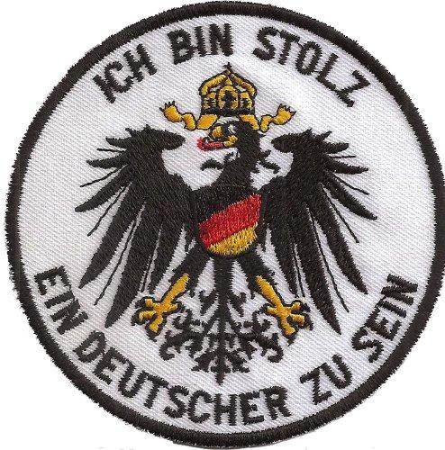 DEUTSCHER Adler Wappen Ich Bin Stolz ein Deutscher zu sein Aufnäher
