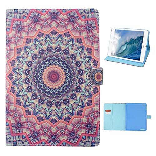 Tasche mit auto Sleep / Wake für iPad 4, iPad 2 Hülle Leder, iPad 3 Bumper Hülle, Moon mood® mit Auto Wakeup / Untätigkeit Funktion Ledertasche für Apple iPad 2/3/4 (9.7 Zoll) , PU Leder Cover Hülle F 1 Totem A