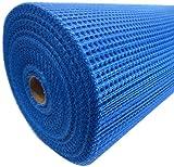 Armierungsgewebe 50cmx100m ca. 145 g/m² blau Außenputz 10x10mm Maschenweite Glasgittergewebe Gewebe