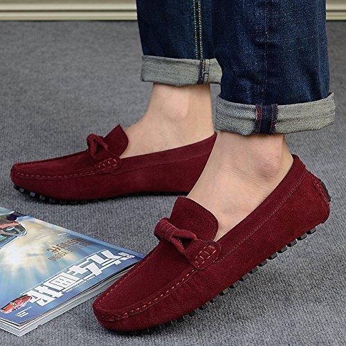 Icegrey Herren Mode Gehen Lässige Schuhe Halbschuhe Weinrot