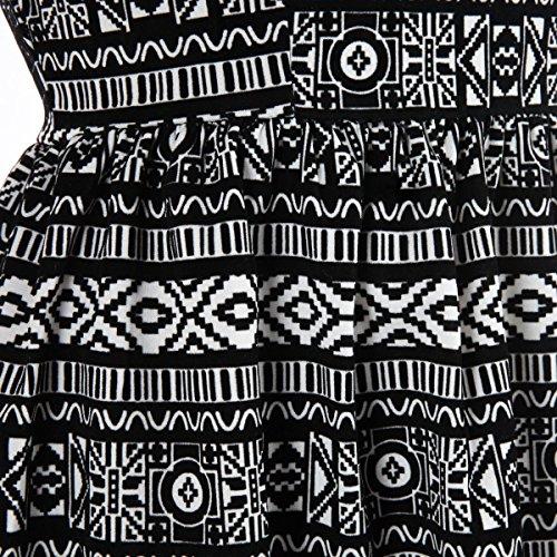 La Modeuse - Robe de style patineuse avec motifs ethniques Multicolore