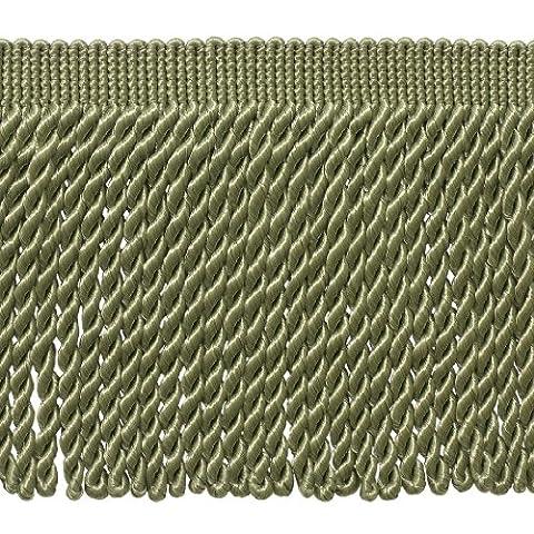15,2cm de long Vert sauge Bullion Fringe Trim, Basic Trim Collection, style # Bfs6Couleur: L83, vendu au mètre