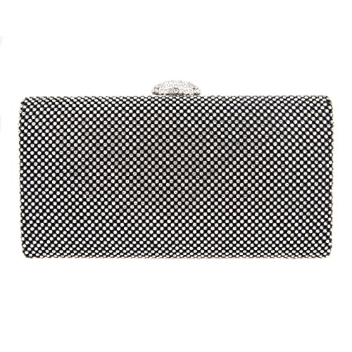 Bonjanvye Envelope Oversized Handbag Evening Purses Clutches Bag Green Black