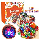 WESTERN ERA Anti-Stress Mesh Squishy Ball with Led Lights for Releiving Stress, Anxiety