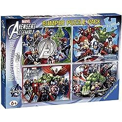 Avengers Avengers-07076 Rompecabezas 4 x 100 Piezas (Ravensburger 7076)