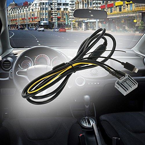 KKmoon 3,5 mm Aux Collegamento Linea Ingresso Cavo Audio Adattatore Auto Digitale CD Caricatore per (Accord Computer)