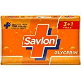Savlon Glycerin Germ Protection Bathing Soap Bar, 125g (Buy 3*125g Get 1*125g Free)