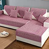 & bettwäsche aus baumwolle sofa möbel protector für hund oder haustier,Sofa decken alle saison sektionaltore slipcovers l form strapazierfähig volltonfarbe slip cover u-form-D 35x28inch(90x70cm)