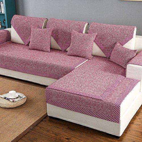 & bettwäsche aus baumwolle sofa möbel protector für hund oder haustier,Sofa decken alle saison sektionaltore slipcovers l form strapazierfähig volltonfarbe slip cover u-form-D 35x28inch(90x70cm) (Bettwäsche Wasserdicht Hund)