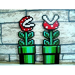 Sprite Fleisch fressenden Pflanzen von Mario Bros Hama Perlen • • • Pixel Art Perler Perlen repräsentieren • Nintendo