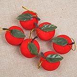 Floccaggio Della Mela Rossa Di Natale (confezione Da 6) 4cm Decorazioni Natalizie Ciondolo Albero Di Natale Regali Di Natale 10 Borse,Red-OneSize