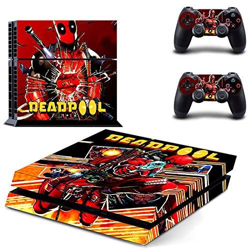 Playstation 4 + 2 Controller Aufkleber Schutzfolie Set - Deadpool (8) - Deadpool Machen