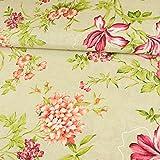 Stoffe Werning Dekostoff Blumenmuster beige pink