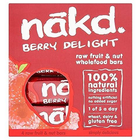 Nakd Berry Delight gluten Barres gratuites (4x35g) - Paquet de