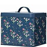 Retro/Vintage Samen & Leuchtmittel Garten Blechdose/Vorratsdose Box–Julie Dodsworth–Flower Girl/Rose Garden Design–Dunkelblau & Pink