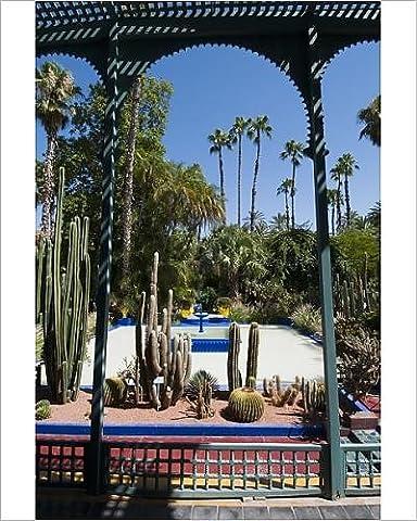 Photographic Print of Majorelle Gardens, Marrakech, Morocco, North Africa, Africa