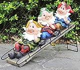 Wonderland Three Gnome / Dwarf on Slide (Garden or home decor , gifting , gift)