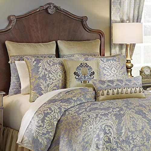Croscill Nadia Cal King Comforter Light Grey (King Croscill Bedding)