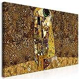 murando Mega XXXL Gustav Klimt Wandbild 170x85 cm - Einzigartiger XXL Kunstdruck zum Aufhängen Leinwandbilder Moderne Bilder Wanddekoration - Kuss Abstrakt l-A-0003-ak-e