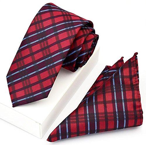 Kissing U Cravate pour Hommes et Pocket Place St Business Style pour Formal Accessoires de Costume R16