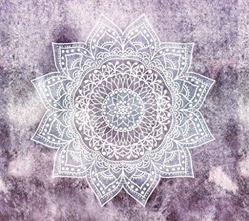 QGUATAN Tapiz Tapiz tapicería Decorativa Mandala patrón de Flores de Tela, Cuadro 2,150X100cm