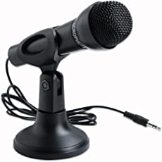 Storin™ Omnidirectional Laptop Pc Computer 3.5Mm Network Stand Mini Microphone Mike Black