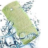 Asciugamano Microfibra Palestra Raffreddamento Telo Panca Sollievo Immediato da Calore Rinfrescante per Sport Fitness Yoga Fascia Capelli Uomo Donna Bambini Morbido Antibatterico da Viaggio Verde