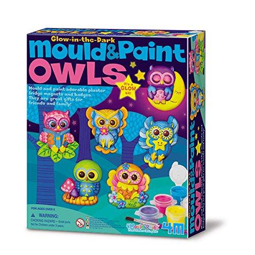 4M 68415 - Mould und Paint - Glow Owls