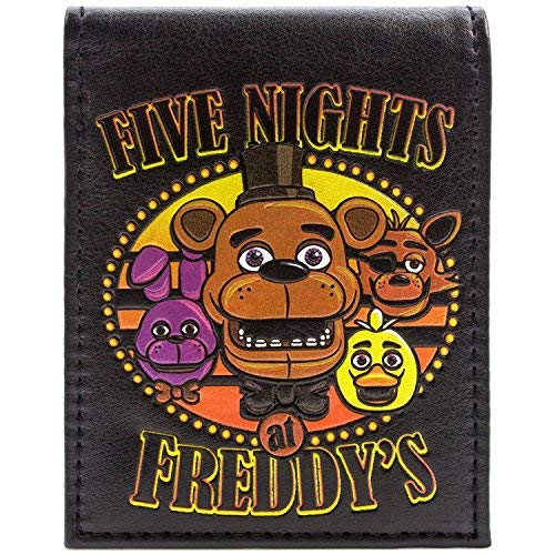 Fazbear Five Nights Scary Characters Black ID & Card Bi-Fold Wallet