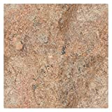 Große Arbeitsplatte Küchenplatte 80cm x 80cm, Tischplatte aus poliertem Granit, Unikat Handarbeit, Granit Tischplatte, Kaminofenplatte 32 KG (Orange/Braun)