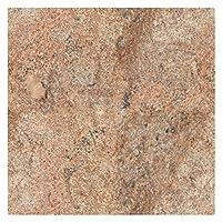 Grand Plan de travail Cuisine Plaque 80cm x 80cm, plateau de table en granite poli, Pièce unique main, 40kg Orange/marron