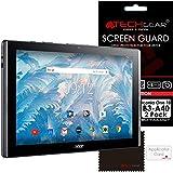 [Pack de 2] TECHGEAR Acer Iconia One 10 avec Modèle B3-A40 Film de Protection ULTRA CLAIRE avec Chiffon de Nettoyage & Carte d'Application