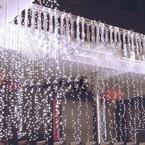 DulceCasa 3x 3m Tenda Luminosa di Natale 304 LED 100% impermeabile Luce per Interno / esterno Natale stringa fata nozze Luci della tenda 220V nuziale / hotel / festival / Ristoranti barriera fotoelettrica - Bianco Freddo