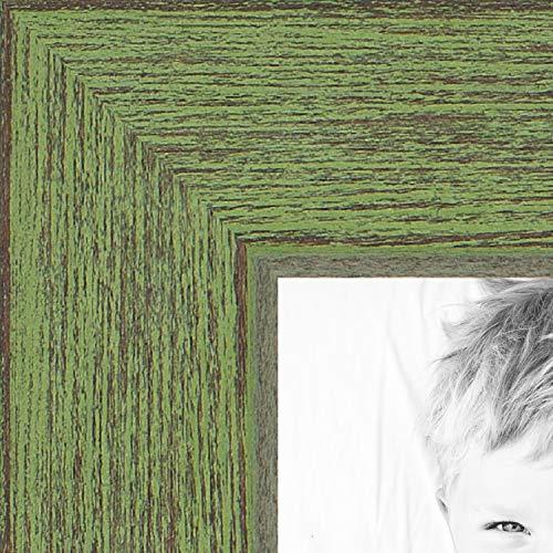 ArtToFrames Bilderrahmen, Kirschrot auf roter Eiche, 1,9 cm breit Rustikal 21 x 30 grün