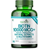 Simply Herbal Premium Biotin 10,000 MCG + Keratin + Amino Acids, Natural Extract & Multivitamin (1)